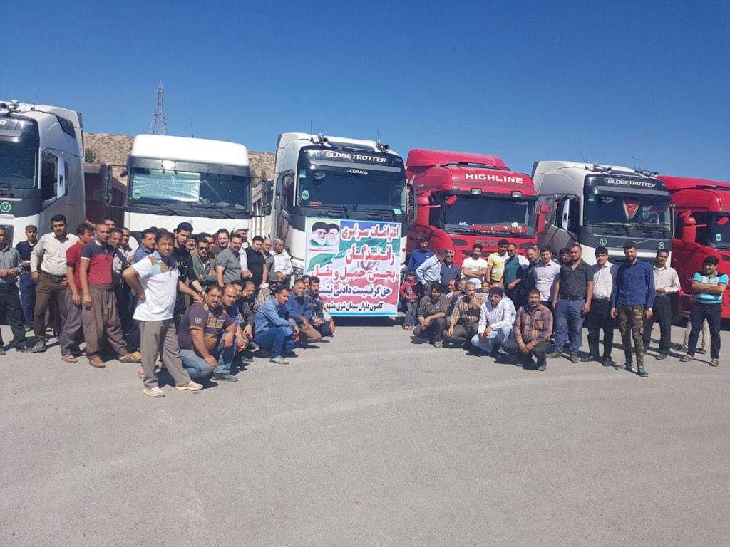Truck Drivers Strike Over Unacceptable Wages in Iran